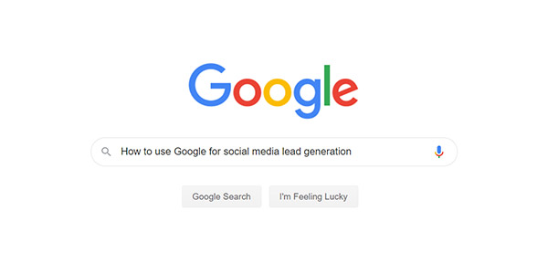Google for Social Media Leads